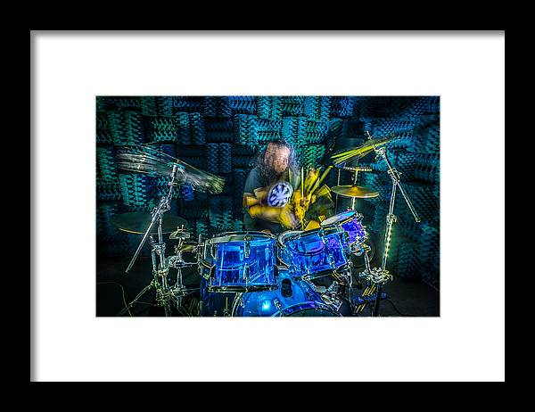Drums Framed Print featuring the photograph The Drummer by David Morefield