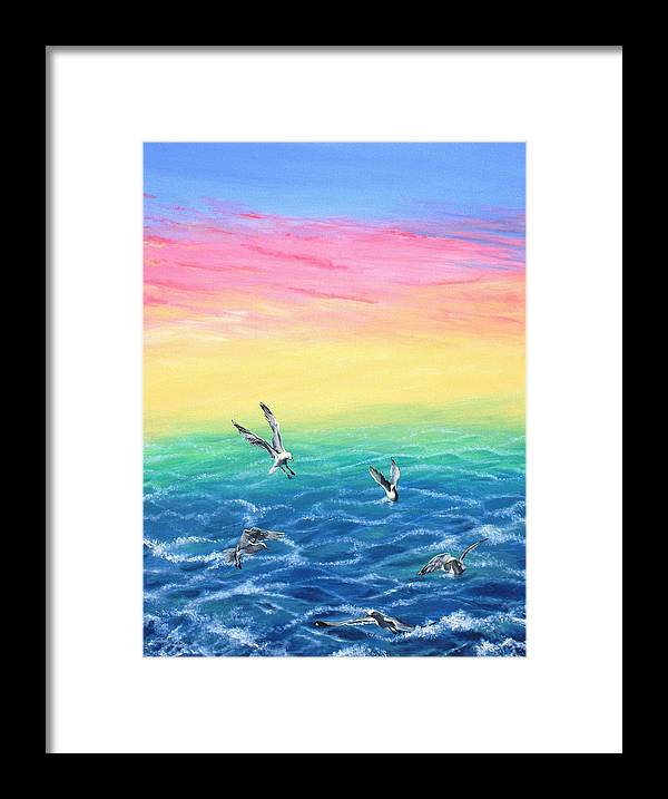 Seascape Framed Print featuring the painting Sea To Sky by Wilfrido Limvalencia