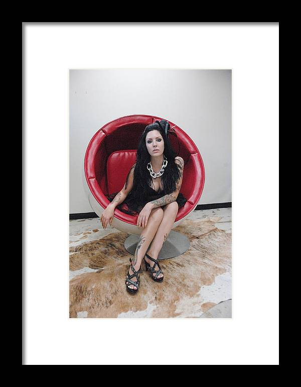 Photo Framed Print featuring the photograph The Egg Chair 17 by Liezel Rubin