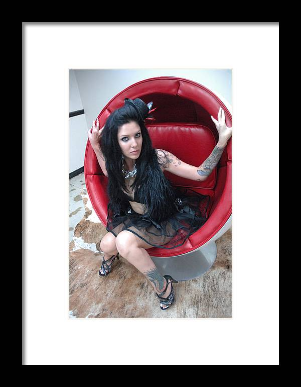 Photo Framed Print featuring the photograph The Egg Chair 82 by Liezel Rubin