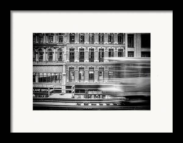Chicago Framed Print featuring the photograph The Elevated by Scott Norris