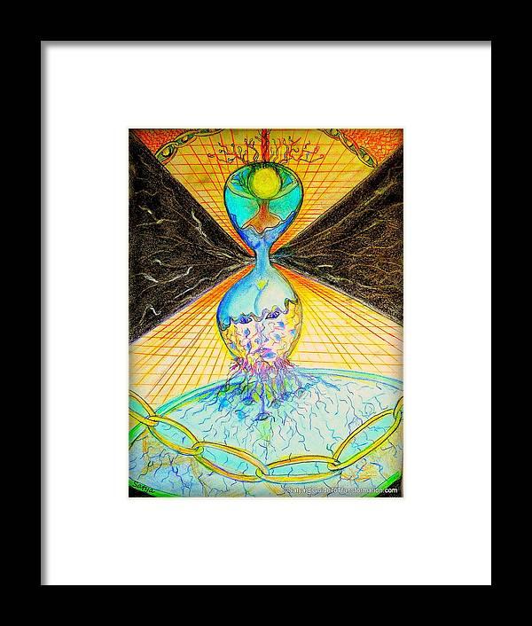Female Framed Print featuring the painting The Emerging Feminine by Satya Winkelman