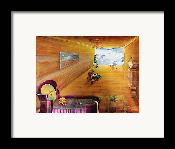 Fantasy Framed Print featuring the painting The End Of War by Blima Efraim