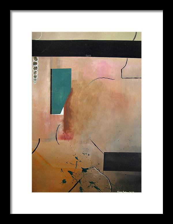 Abstract Framed Print featuring the painting The Entry by Charline Gardhouse