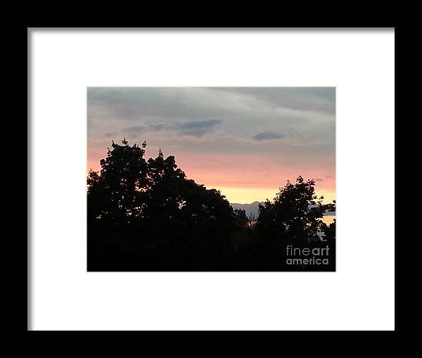 Brilliant Framed Print featuring the photograph The Evening Sky by Christy Gendalia