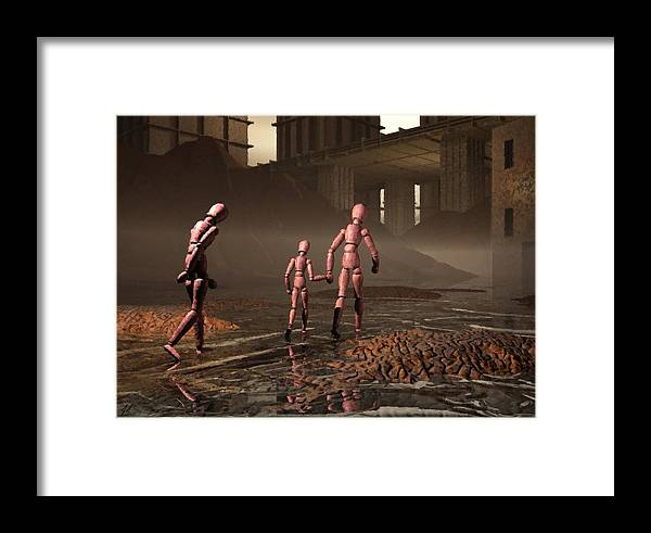 Exiles Framed Print featuring the digital art The Exiles Sojourn by John Alexander