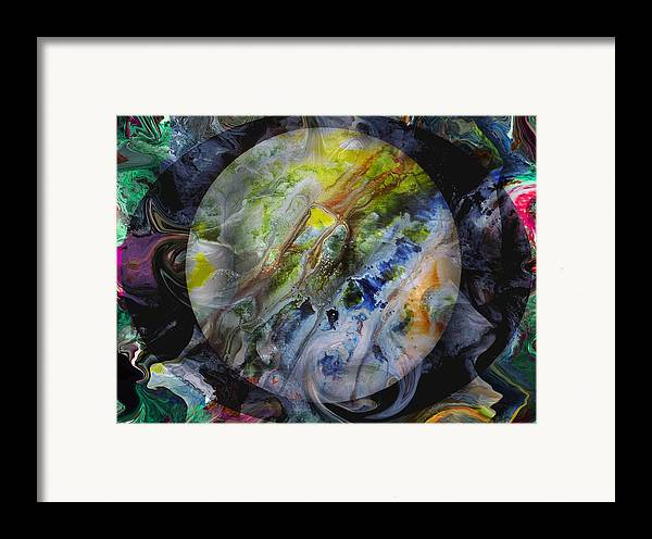 Surrealism Framed Print featuring the digital art The Eye Of Silence by Otto Rapp