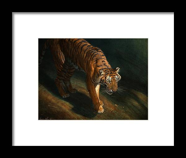 Tiger Framed Print featuring the digital art The Eye of the Tiger by Aaron Blaise