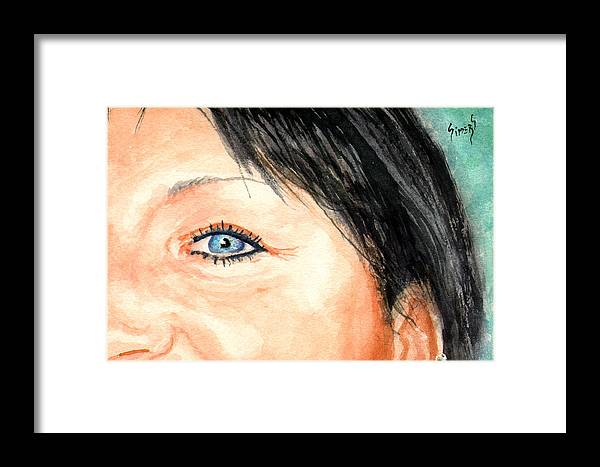 Tami Framed Print featuring the painting The Eyes Have It - Tami by Sam Sidders