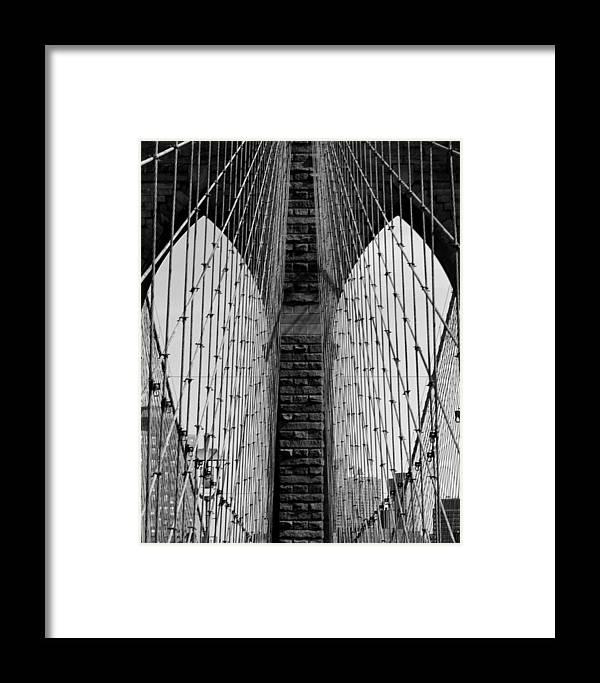 Brooklyn Bridge Framed Print featuring the photograph The Eyes Of The Bridge by Mark Szep