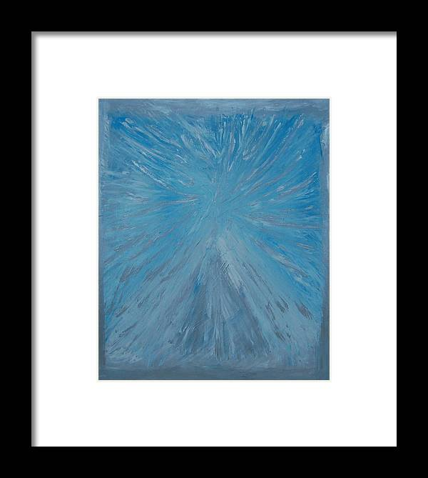 Blue Framed Print featuring the painting The Fairy by Sirenes
