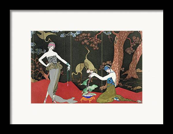 Print Framed Print featuring the painting The Fashion For Lacquer by Georges Barbier