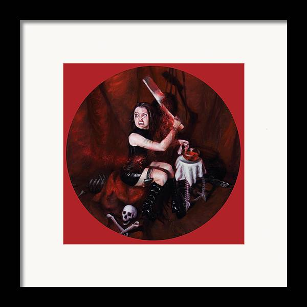 Shelley Irish Framed Print featuring the painting The Fearful by Shelley Irish