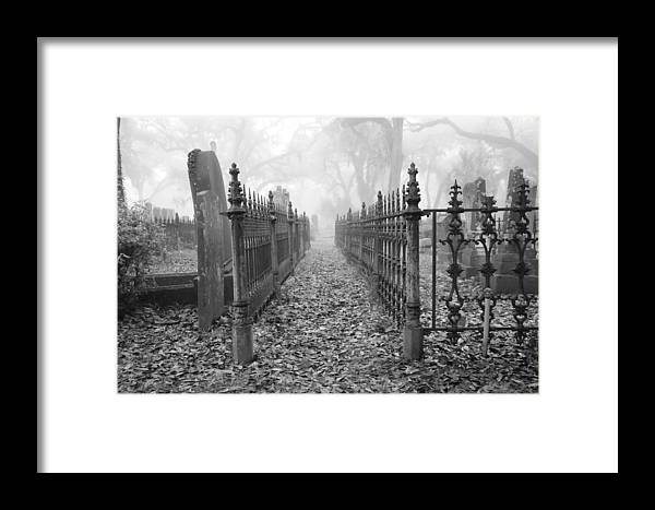 Graveyard Framed Print featuring the photograph The Fence by Margaret Lee