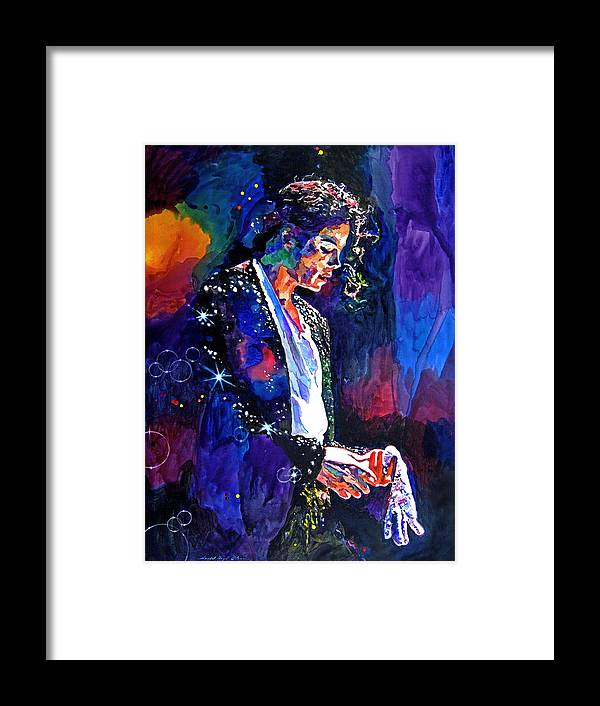Michael Jackson Framed Print featuring the painting The Final Performance - Michael Jackson by David Lloyd Glover