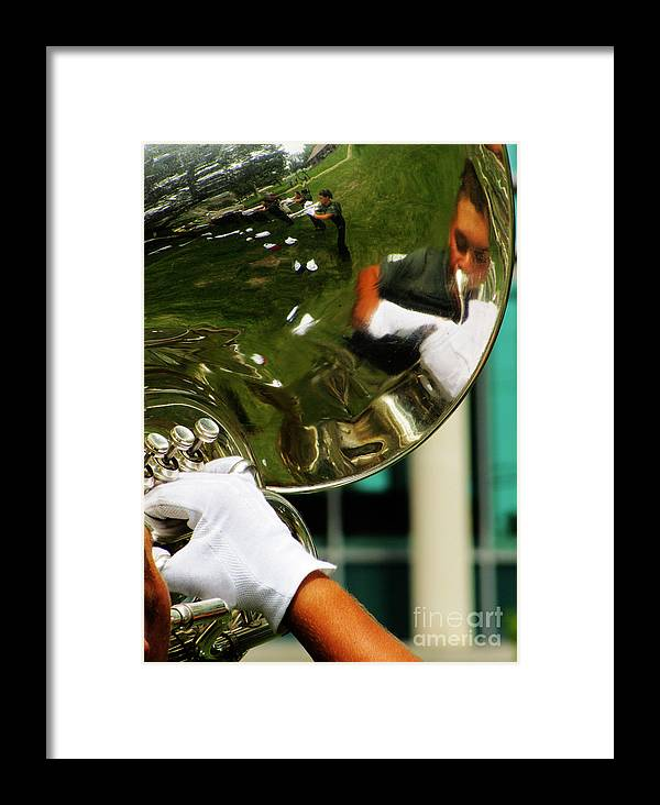 Music Framed Print featuring the photograph The Finest Tuba The Sweetest Sound by Ron Tackett