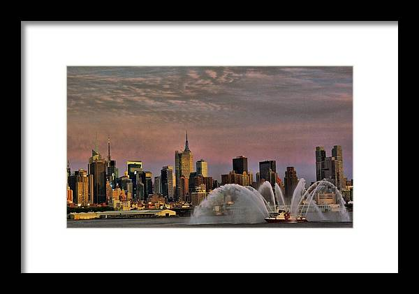 Fire Framed Print featuring the photograph The Fireboat by Perry Frantzman