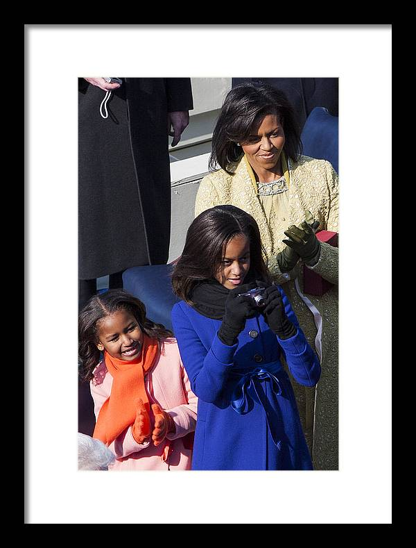 Barack Obama Framed Print featuring the photograph The First Family by JP Tripp