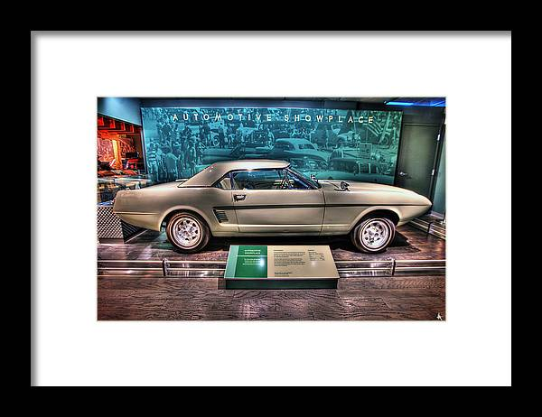 The First Framed Print featuring the photograph The First Mustang by Nicholas Grunas