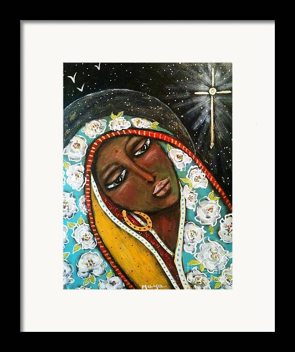 Christmas Framed Print featuring the painting The First Noel by Maya Telford