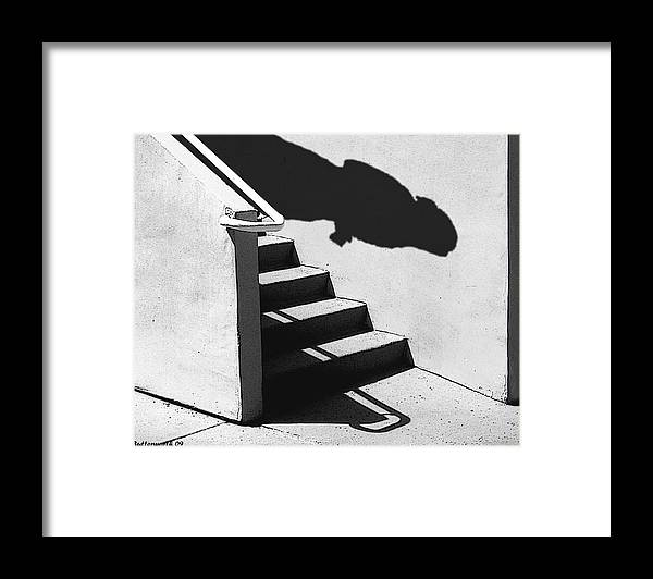 Architecture Framed Print featuring the photograph The First Step by Larry Butterworth