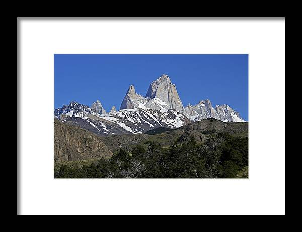 Argentina Framed Print featuring the photograph The Fitz Roy Range by Michele Burgess