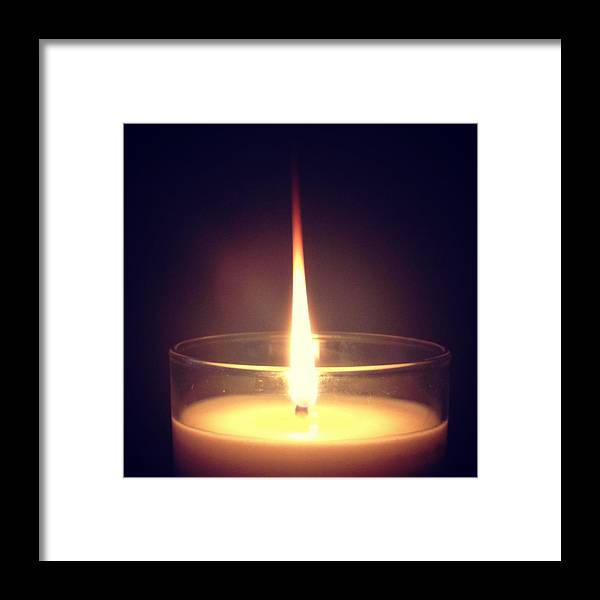 Candle Framed Print featuring the photograph The Flame Of Paula by Kristine Crook