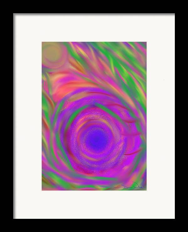 Daina White Framed Print featuring the painting The Flora Is Breathing by Daina White
