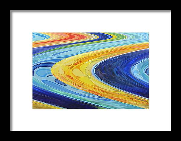 Abstract Framed Print featuring the photograph The Flow by Kenny Francis