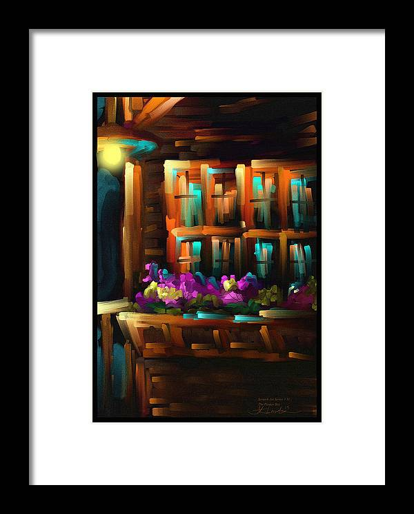Flower Framed Print featuring the painting The Flower Box - Scratch Art Series - #31 by Steven Lebron Langston
