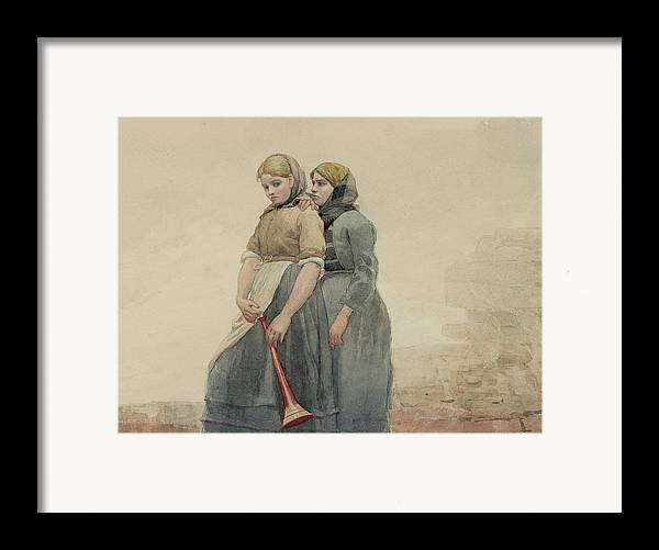 Horn Framed Print featuring the painting The Foghorn by Winslow Homer