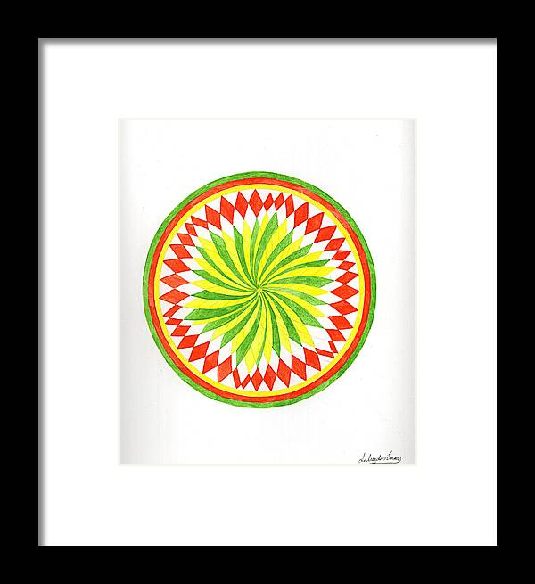 Mandala Framed Print featuring the painting The Forest Mandala by Silvia Justo Fernandez