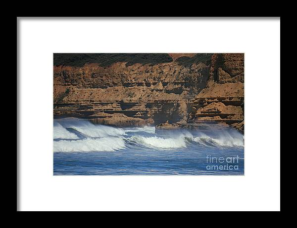 Waves Framed Print featuring the photograph The Fortress by Amanda Holmes Tzafrir
