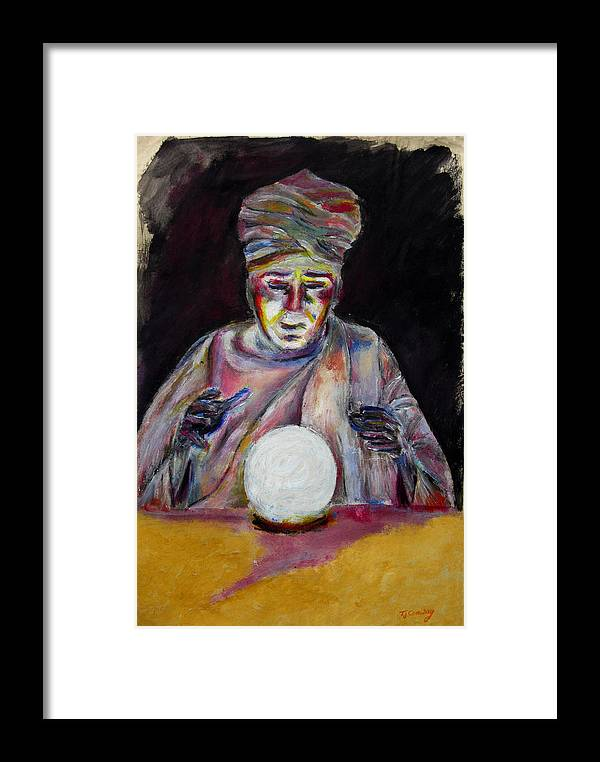 Fortune Tellers Framed Print featuring the painting The Fortune Teller by Tom Conway