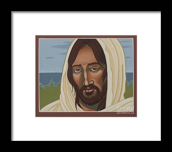 Jesus Framed Print featuring the painting The Galilean Jesus 266 by William Hart McNichols