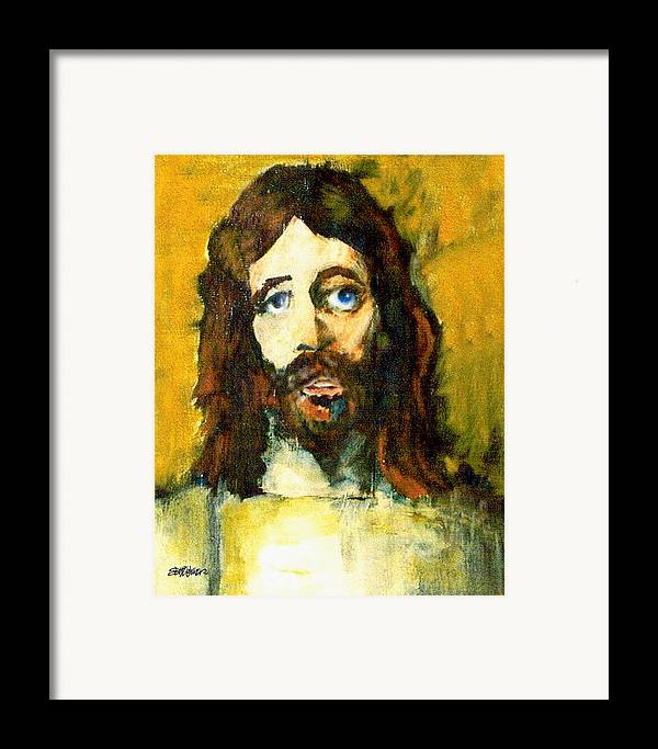 Jesus Christ Framed Print featuring the painting The Galilean by Seth Weaver