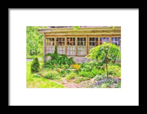 Garden Framed Print featuring the photograph The Garden At Juniata Crossings by Lois Bryan