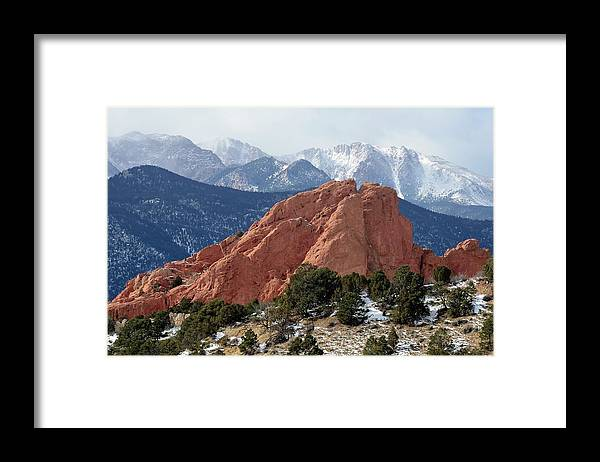 Scenics Framed Print featuring the photograph The Garden Of The Gods In Colorado by Rivernorthphotography