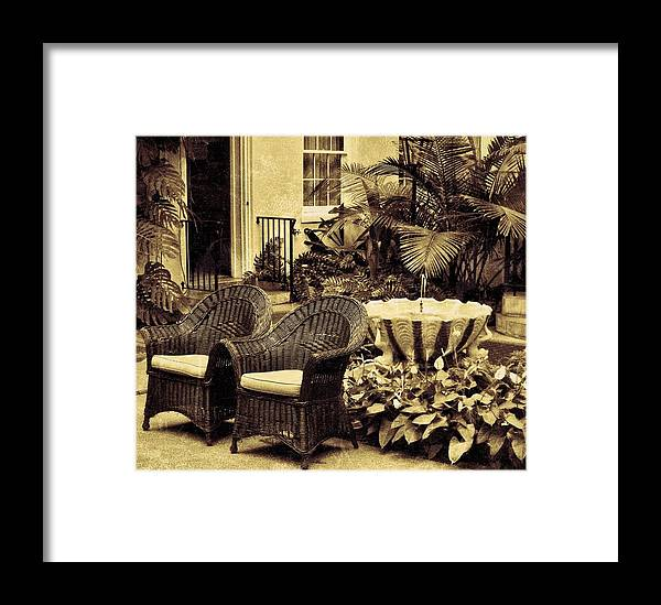 Garden Room Framed Print featuring the photograph The Garden Room by Jean Goodwin Brooks