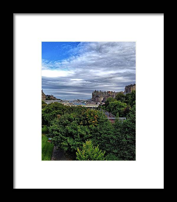 Edinburgh Framed Print featuring the photograph The Gardens by Karen Bain