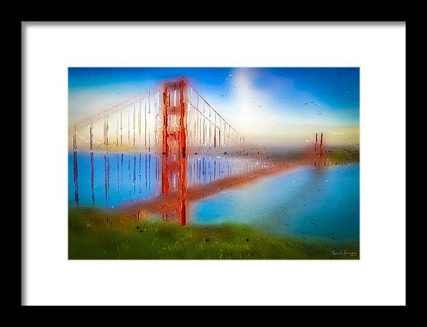 Framed Print featuring the digital art The Gate 008 by Marcelo Alexandre