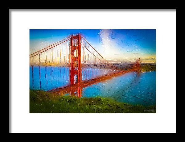 Framed Print featuring the digital art The Gate 010 by Marcelo Alexandre