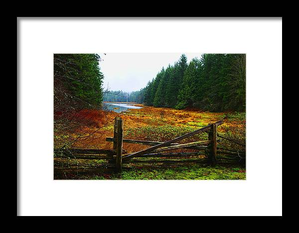 Split Rail Framed Print featuring the photograph The Gate by Lawrence Christopher