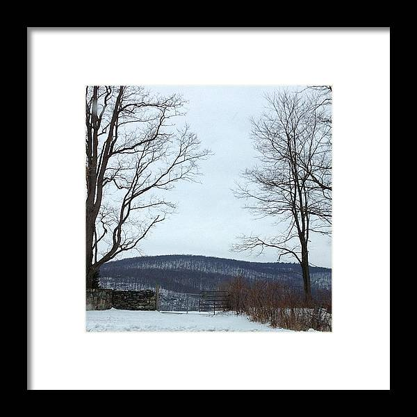 Gate Framed Print featuring the photograph The Gate To No Where #gate #nowhere by Amber Campanaro