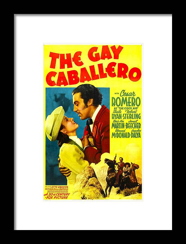 1940 Movies Framed Print Featuring The Photograph Gay Caballero Aka Ghost Of By