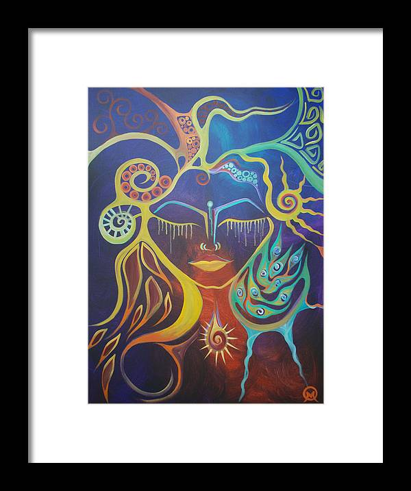 Woman Framed Print featuring the painting The Gem by Michelle Oravitz