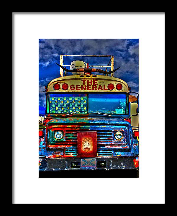 Party Bus Framed Print featuring the photograph The General by Toby Horton