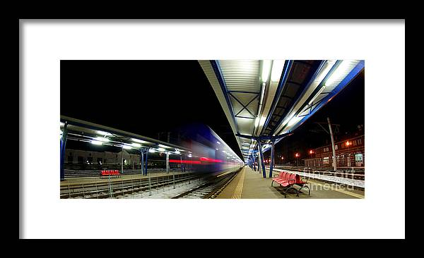 Train Framed Print featuring the photograph The Ghost Train by Amalia Suruceanu