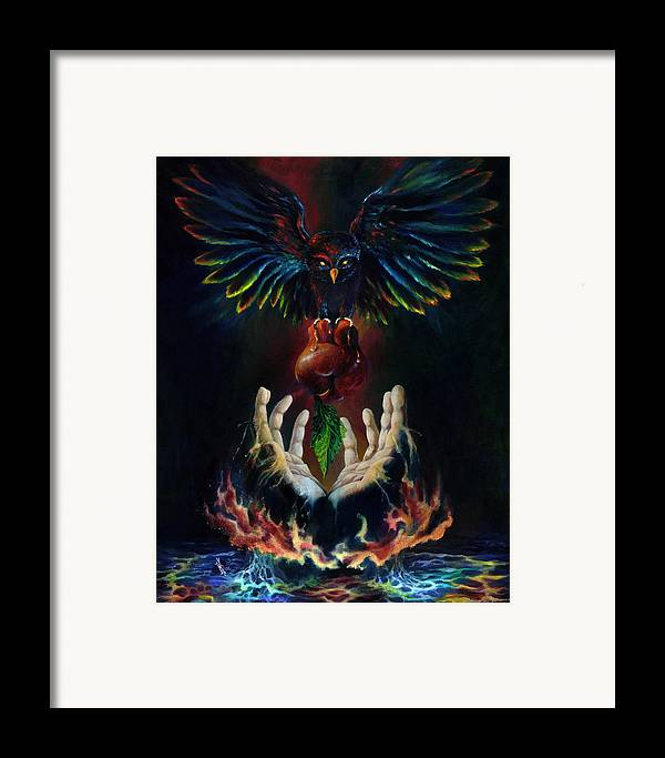 Metaphysical Framed Print featuring the painting The Gift by Kd Neeley