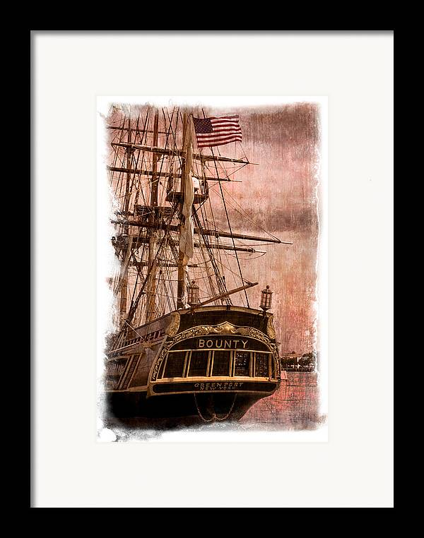 American Framed Print featuring the photograph The Gleaming Hull Of The Hms Bounty by Debra and Dave Vanderlaan
